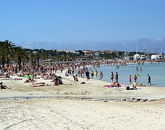 Pláž El Arenal na jihu Mallorcy
