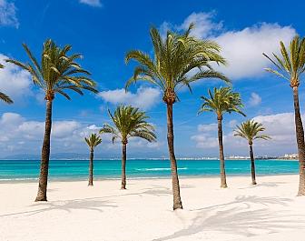 Pláž El Arenal na jihu Mallorky