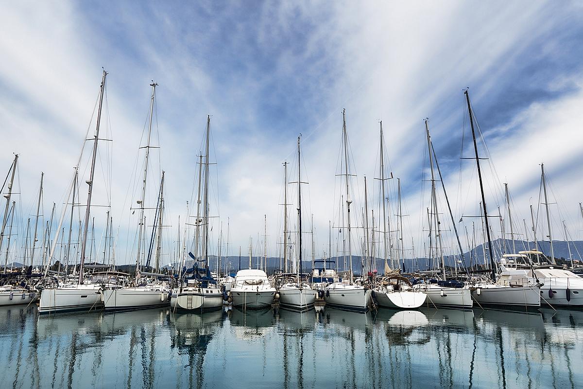 Gouvia, Korfu, Řecko, přístav