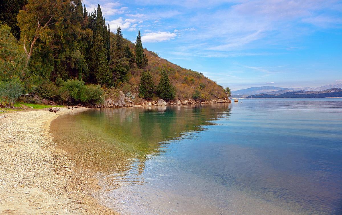 Pláž Kalami na Korfu