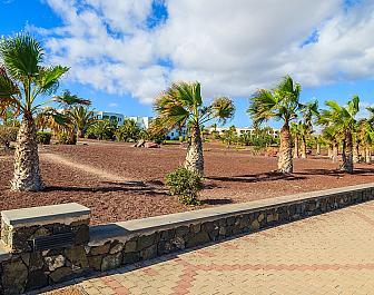 Promenáda v Las Playitas na ostrově Fuerteventura, Kanárské ostrovy