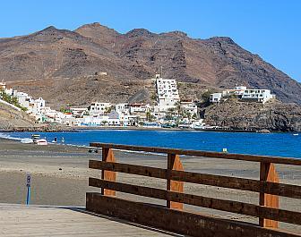 Pobřeží v Las Playitas na ostrově Fuerteventura, Kanárské ostrovy