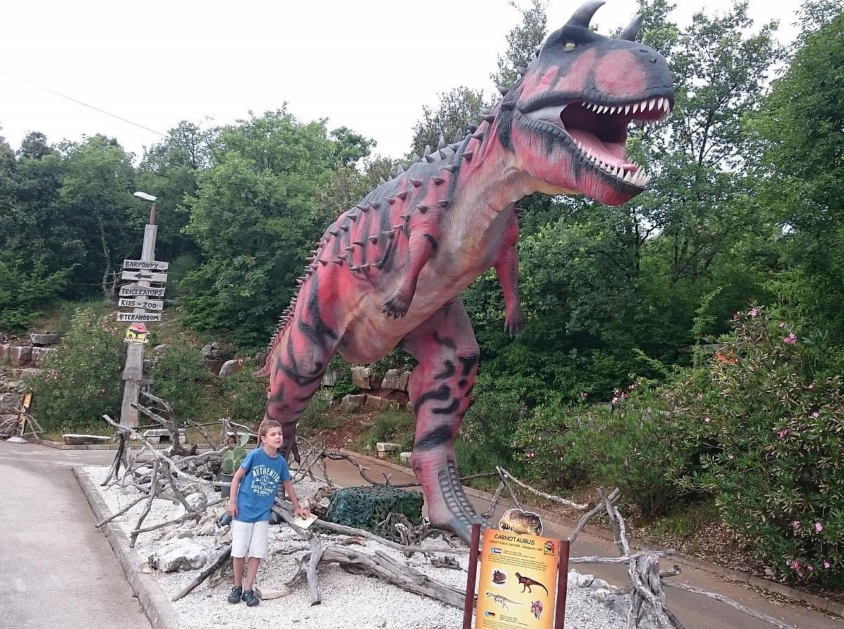 Dinopark Funtana, carnotaurus