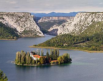 Krka, ústí do Jadranu