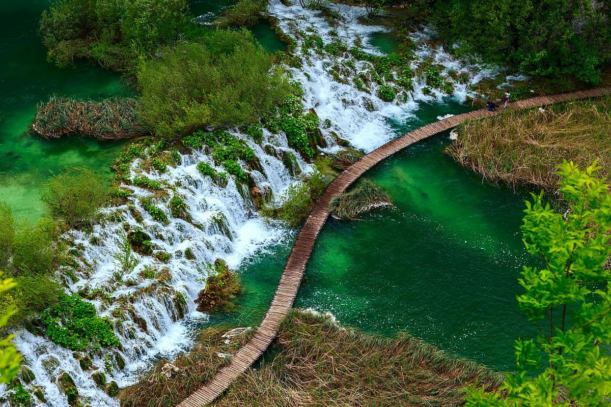 Plitvická jezera, turistický chodník