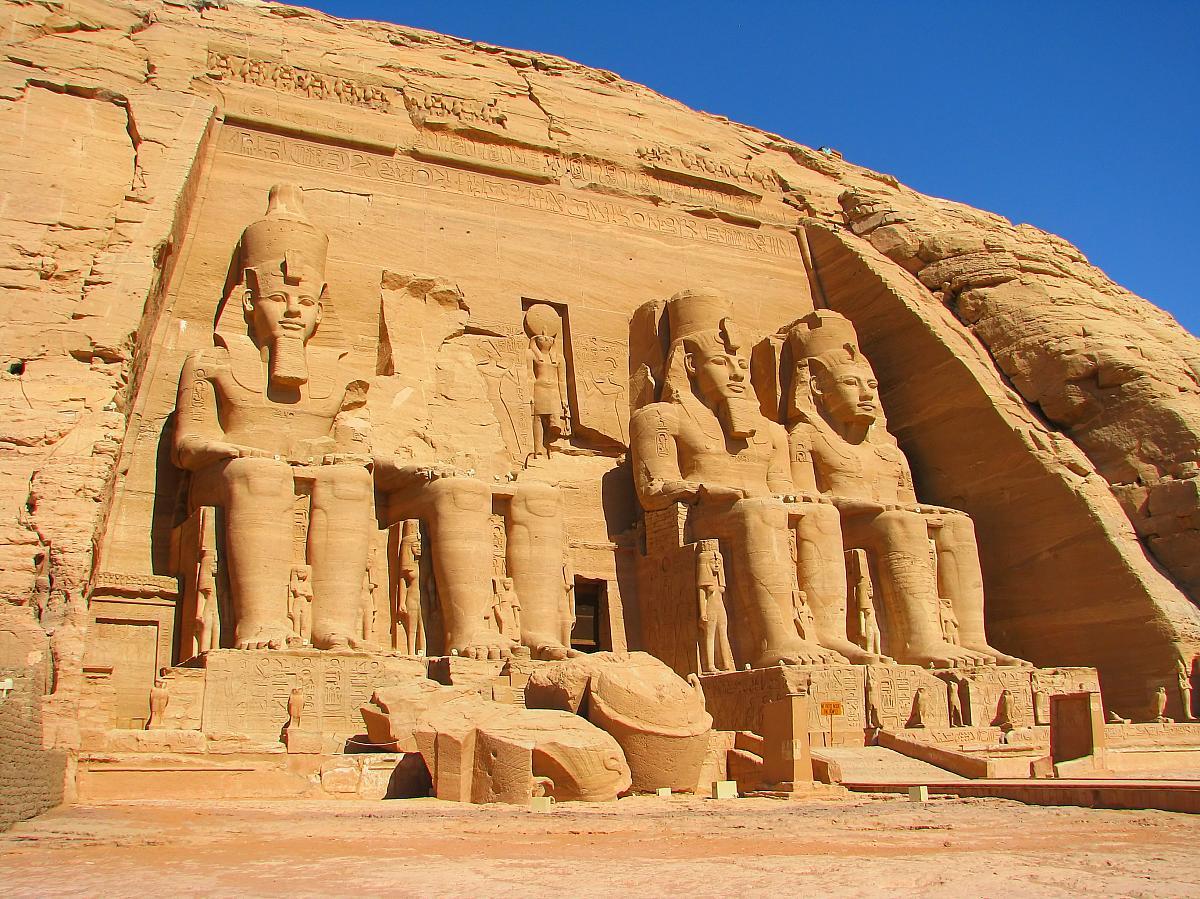 Abú Simbel, detail chrámu Ramsese II