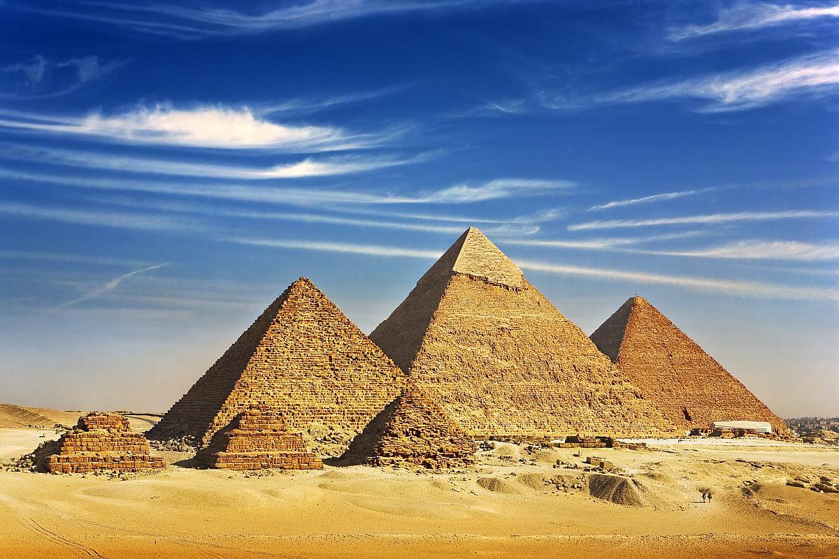 Pyramidy v Gíze, celkový pohled