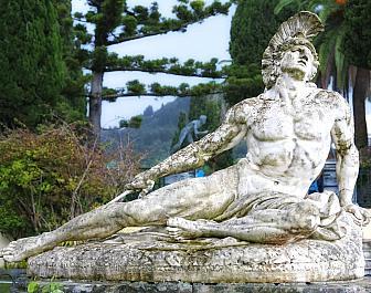 Achillion, umírající Achilles