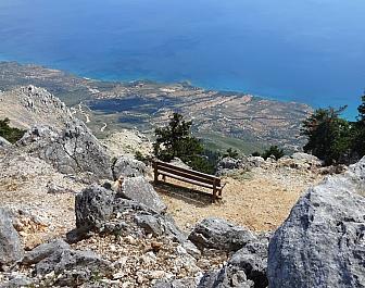 Ainos, výhled z vrcholu Mount Ainos