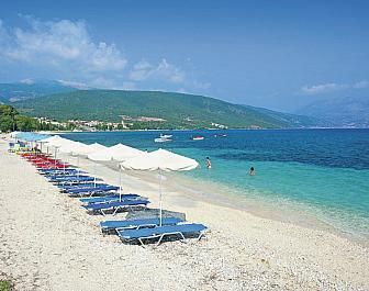 Ainos, pohled z pláže
