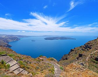 Akrotiri, výhled na moře