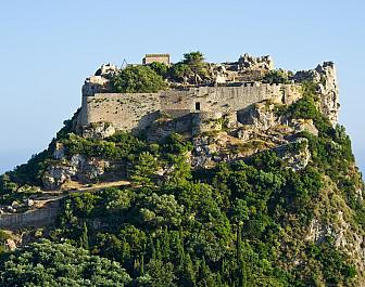 Angelókastro, detailní pohled na zbytky pevnosti