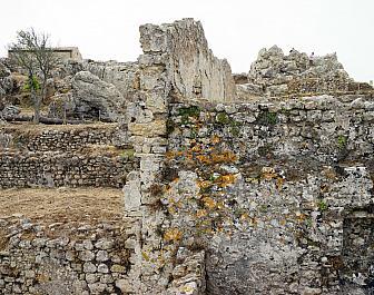 Angelókastro, ruiny