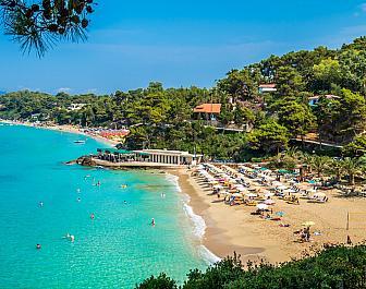 Argostoli, pláž shora