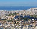 Atény, letecký pohled