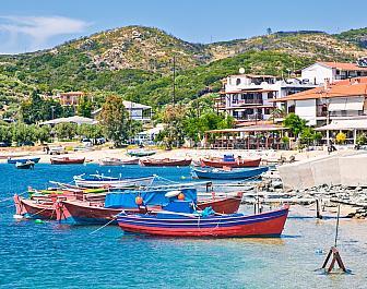 Athos, přístav Ouranoupolis