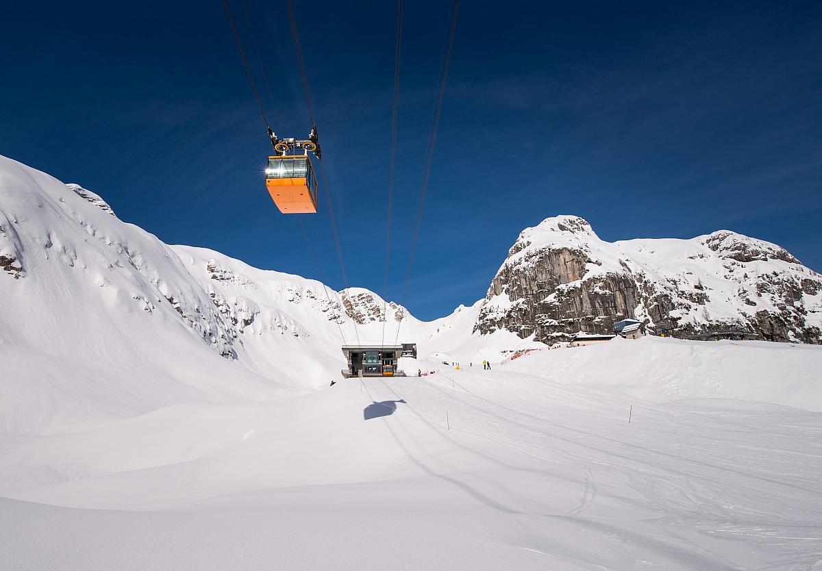 Triglav, ski areál Canin Sella Nevea